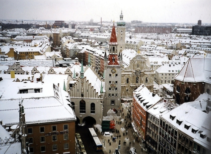 san silvestro con la neve in Germania