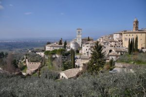 Vista panoramica della città di Assisi